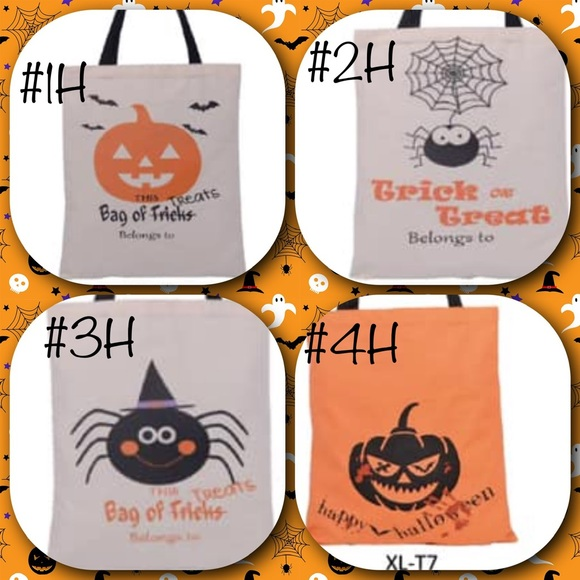 Personalized blank Halloween bag lot!